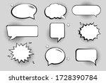 retro empty comic bubbles and... | Shutterstock .eps vector #1728390784