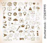 sketch of web design icons hand ... | Shutterstock .eps vector #172839995