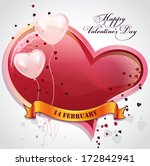 card for valentine's day with... | Shutterstock .eps vector #172842941