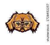 pekingese dog wearing... | Shutterstock .eps vector #1728452257