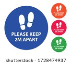 please keep 2m apart ... | Shutterstock .eps vector #1728474937