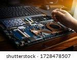 Hand Technician Repairing...