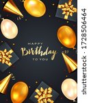 gold lettering happy birthday... | Shutterstock .eps vector #1728506464