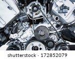 car engine   modern powerful...   Shutterstock . vector #172852079