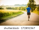 male athlete runner running on... | Shutterstock . vector #172852367