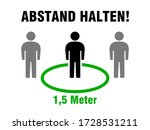 "abstand halten  ""keep your...   Shutterstock .eps vector #1728531211"