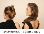 Model With Hair Clips  Posing ...