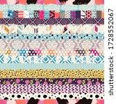 seamless pattern  patchwork...   Shutterstock .eps vector #1728552067