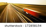 truck on asphalt road motion... | Shutterstock . vector #172858154