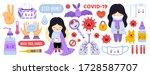 big set of coronavirus... | Shutterstock .eps vector #1728587707