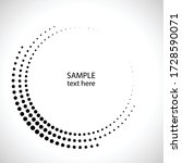 halftone dots in circle form.... | Shutterstock .eps vector #1728590071