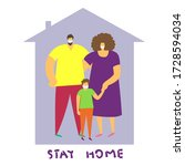 vector image. family with the... | Shutterstock .eps vector #1728594034