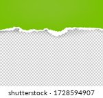 realistic vector torn a half... | Shutterstock .eps vector #1728594907