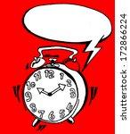 alarm clock with bubble speech | Shutterstock .eps vector #172866224