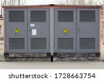 Power Utility Box On A Power...