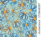 seamless pattern with colorful...   Shutterstock .eps vector #1728668287