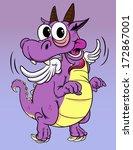 dragon cartoon | Shutterstock .eps vector #172867001