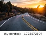 Scenic Asphalt Country Road At...
