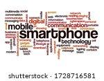 smartphone word cloud concept... | Shutterstock . vector #1728716581