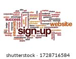 sign up word cloud concept on... | Shutterstock . vector #1728716584