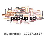 pop up ad word cloud concept on ... | Shutterstock . vector #1728716617