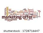 marketing offer word cloud... | Shutterstock . vector #1728716647