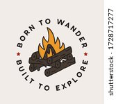 vintage camping adventure badge ... | Shutterstock .eps vector #1728717277
