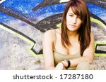 young woman in casual clothing... | Shutterstock . vector #17287180