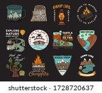 vintage mountain camp badges... | Shutterstock .eps vector #1728720637