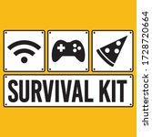 survival kit  wifi joystick and ... | Shutterstock .eps vector #1728720664