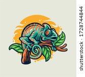 Chameleon Vector Character...