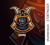 devil samurai warrior mascot... | Shutterstock .eps vector #1728746314