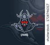 devil samurai warrior mascot... | Shutterstock .eps vector #1728746317