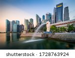 Small photo of Singapore - 2016: Central Business District (CBD), located to the immediate south of Singapore River, is the core financial and commercial hub.