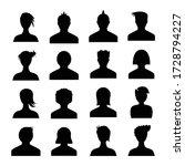 human avatar icons set... | Shutterstock .eps vector #1728794227