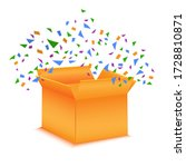 open orange box with a gift.... | Shutterstock .eps vector #1728810871