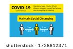 covid 19  coronavirus  social...   Shutterstock .eps vector #1728812371