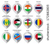 markers from paper with flag... | Shutterstock .eps vector #172882805