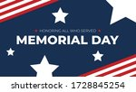 memorial day   honoring all who ... | Shutterstock .eps vector #1728845254