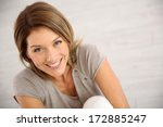 portrait of smiling middle aged ... | Shutterstock . vector #172885247
