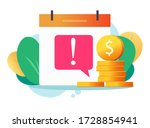 money caution fraud error... | Shutterstock .eps vector #1728854941