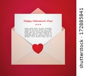 valentine's day vector envelope | Shutterstock .eps vector #172885841
