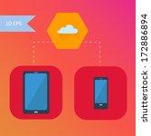 vector flat design smart phone...