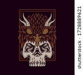Owl Skull Cap Vector...