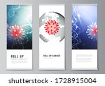 vector layout of roll up mockup ... | Shutterstock .eps vector #1728915004