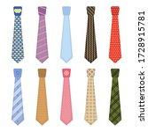 men accessories ties fashioned. ... | Shutterstock .eps vector #1728915781