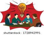 brainstorm  teamwork  idea ...   Shutterstock .eps vector #1728942991