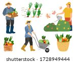 farmers and agricultural... | Shutterstock .eps vector #1728949444