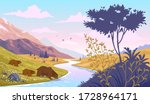 beautiful stylized bear... | Shutterstock .eps vector #1728964171