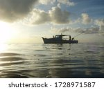 Fisherman On A Boat Off The...
